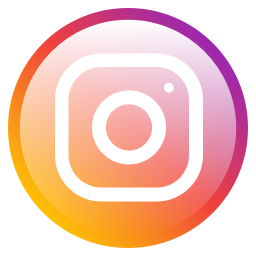 Instagram logo- yellow and pink background with white camera outline in center